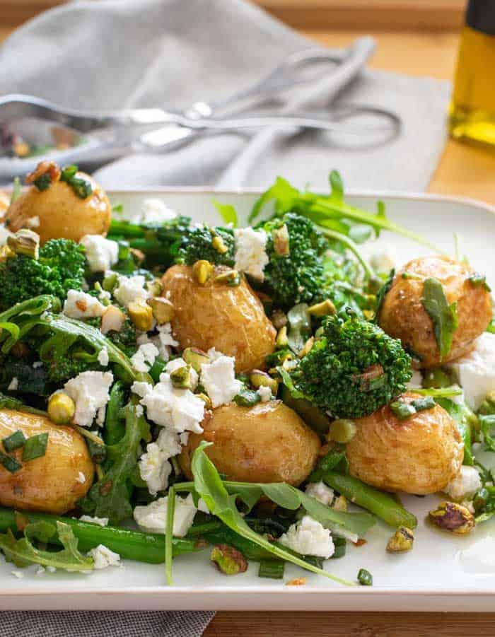 Broccoli Potato Salad Recipe With Roast Garlic Vinaigrette