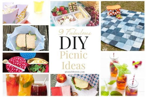 Collage of DIY picnic ideas.