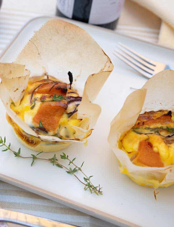 Roast Pumpkin and Feta Mini Frittata Recipe