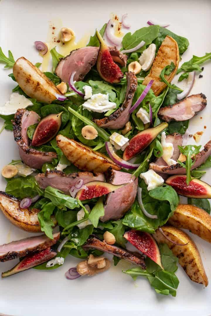 Smoked Duck, Fig & Grilled Pear Salad